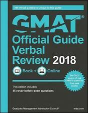 GMAT Official Guide 2018 Verbal Review: Book + Online by Graduate Management...