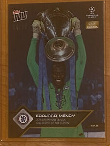 2021 Topps NOW UCL UEFA Edouard Mendy ~ Chelsea FC ~ Blue #04/10