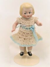 "Adorable 6"" All-Bisque Dressed Hertwig Googly by Connie Zink- Land of Oz Dolls"