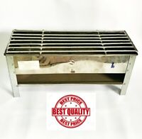"""Thai Grills Stainless Steel Satay BBQ Handmade Thickly Charcoal Outdoor 16""""x6"""""""