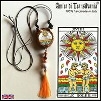 talisman necklace amulet pendant charms jewel good luck love money tarot cards 1