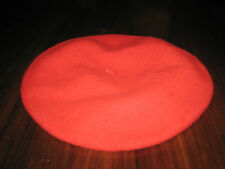 Beret Basque 100% Wool Bright Red Made in Czech Republic Vintage Unisex