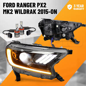 LED Projector Headlights For Ford Ranger PX2 PX3 MKII MKIII Everest 2015-ON OZ