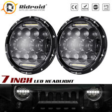 280W 7 Inch LED Headlights DRL Hi-Lo Sealed Beam For Jeep Wrangler JK TJ CJ LJ