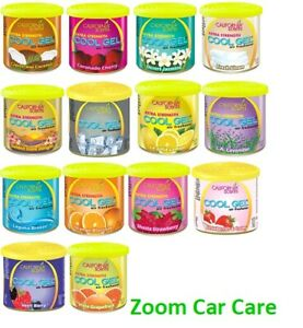 California Scents Cool Gel Large Can Car Air Fresheners x 14 Assorted Freshner