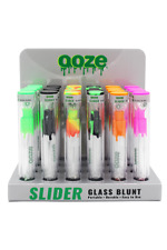 More details for ooze reusable glass 'slider 'blunt - 6 stunning colours/styles