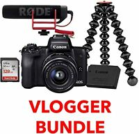 EOS M50 Mirrorless Camera Vlogger Kit with 15-45mm Lens (Black)Stock in UK