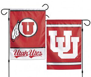 "University of Utah Utes Garden Flag NCAA Double Sided 12.5"" x 18"""