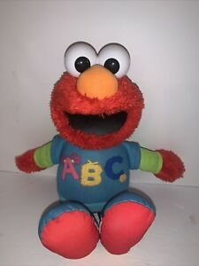 ABC Talking Singing Elmo Sesame Street 2013 Hasbro Plush Doll Toy TESTED
