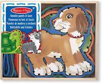Melissa & Doug Wooden Panels & Laces - Pets   Developmental Toy   Lacing...