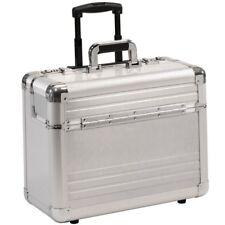 BORSE PILOTA Borsa da viaggio con ruote rullo trolley alluminio argento  XL