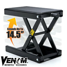 NEW Venom Motorcycle Center Stand Scissor Hoist Jack Lift Stand Portable Bike