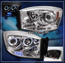 2006-2009 DODGE RAM HALO LED PROJECTOR HEADLIGHT CHROME 2007 2008 1500 2500 3500
