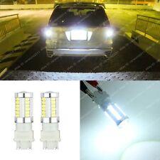 2x HID Bright White LED Reverse Light 3157 3056 3057 Bulb For Backup Light 33SMD
