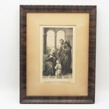 Antique Print Vintage Holy Family in Nazareth