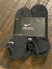 Nike Everyday 6 Pairs No Show Cotton Dri-Fit Socks Mens L 8-12   SX7675 010
