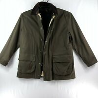 Brooks Brothers Mens Coat Large Removable Vest Full Zip Olive Green Heavy Winter