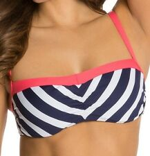 Beach House Swimwear Ship Shape Stripe Underwire Bra Bikini Top Size 6 New