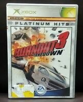 Burnout 3 Takedown Racing  - Microsoft Xbox OG Rare Game Complete Working Tested