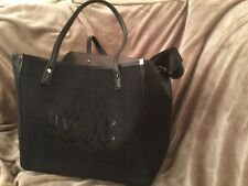 ARLINGTON BLACK DENIM SOFT TOTE HANDBAG WITH INSERT JUICY BY JUICY  COUTURE NEW