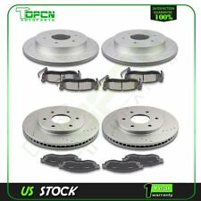 For Nissan Titan Infiniti QX5 Front Rear Brake Rotors And Ceramic Pads Drilled