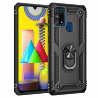 For Samsung Galaxy M31S M31 M21 Case Shockproof Rugged Armor Ring Holder Cover