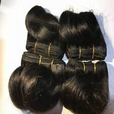 "8Pcs 6"" Black Indian Human Hair Short Extensions Weave Layered For a Whole Head"