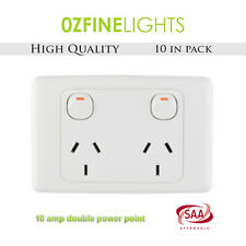 10X 10 Amp Double Electrical Power Point Wall Socket 240V SAA Approved