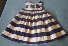 Pumpkin Patch Gorgeous Girls Navy & White Striped Party/Going Out Dress, Size 3