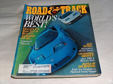 Road & TRACK Julio 1994 CAR TRUCK REVISTAS E. U. Test bugatti's EB 110 SORPRESA
