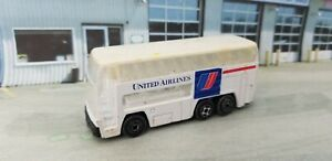 Unbranded United Airlines White Double Decker Passenger Airport Shuttle Bus