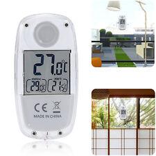 Window Solar Thermometer Waterproof Indoor Outdoor LCD Display Garden Energy nh9