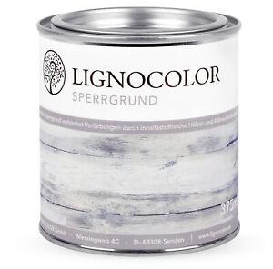 Lignocolor Sperrgrund Isoliergrund Holzlack Kreidefarbe Shabby Chic Farbe 375ml