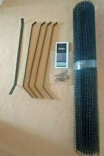 CAT PROOFING~CATIO FENCE TOP BARRIER~BRACKET+MESH KIT~NEW!!