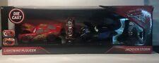 Disney Pixar Cars 3 Lightning McQueen Jackson Storm 1:24 Diecast Set New