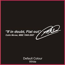 Colin McRae homenaje Calcomanía, Subaru, Clio, Vinilo, etiqueta engomada, gráficos, coche, N2064