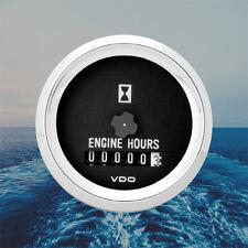 """VDO Ocean Line Engine Hour Meter Gauge Marine Boat 52mm 2"""" Black N03-110-502"""