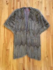 Vintage Fur Stole Shrug Shawl Wedding Wrap - Mink? Rabbit? Fox?  Grayish Brown