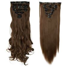 Mega Thick Real Natural as human Hair For Full Head Clip In Hair Extensions lk