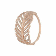 Light as a Feather Authentic PANDORA Rose Gold Plated Ring 7 (54) 180886CZ