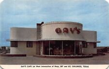 TX - 1950's ROADSIDE Gay's Cafe in Childress, Texas - ART DECO ARCHITECTURE