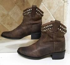 Frye Diana Studded Short Boots dark brown ankle booties size 6