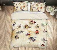 3D Color Butterfly ZHUA88 Bed Pillowcases Quilt Duvet Cover Set Queen King Zoe