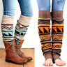 Womens Knitted Crochet Trim Boot Cuffs Toppers Leg Warmers Socks Leggings Winter