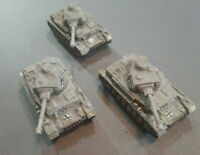 Flames of War FoW  Lot German Panzer IV G Platoon X3 Pro-Painted 15mm