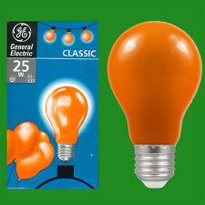 2x 25W GLS Orange Coloured Decorative ES E27 Edison Screw Light Bulb Lamp