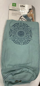 Gaiam Full-Zip Cargo Pocket Yoga Mat Bag Green -Niagara