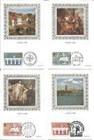 Set Of 4 Benham First Day Cover Postcards Europa 1984 By Fritz Wegner P1852