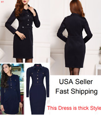2018 Spring Women Evening Cocktail Party Black Slim Fit Casual Dress M=US 4-6