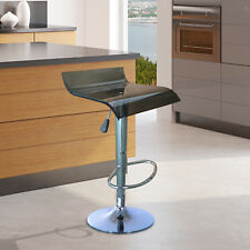 Bar Stool Chair Acrylic Seat Adjustable Height Metal Base Gas Lift